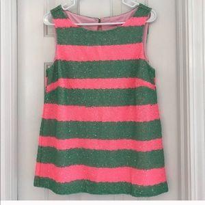 Lily Pulitzer never worn EUC sequin pink & green